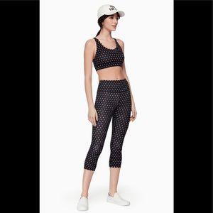 NWT Kate Spade Polka Dot Scallop legging size XS